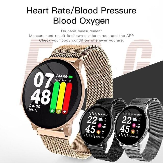 Gosear akıllı saat kalp hızı kan basıncı akıllı bileklik erkekler Bluetooth bilezik Smartwatch kadınlar Apple IOS Android telefon için