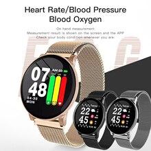 Gosear reloj inteligente con control del ritmo cardíaco y de la presión sanguínea para hombre y mujer, pulsera inteligente con Bluetooth para Apple IOS y Android