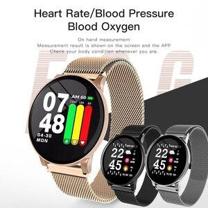 Image 1 - Gosear reloj inteligente con control del ritmo cardíaco y de la presión sanguínea para hombre y mujer, pulsera inteligente con Bluetooth para Apple IOS y Android