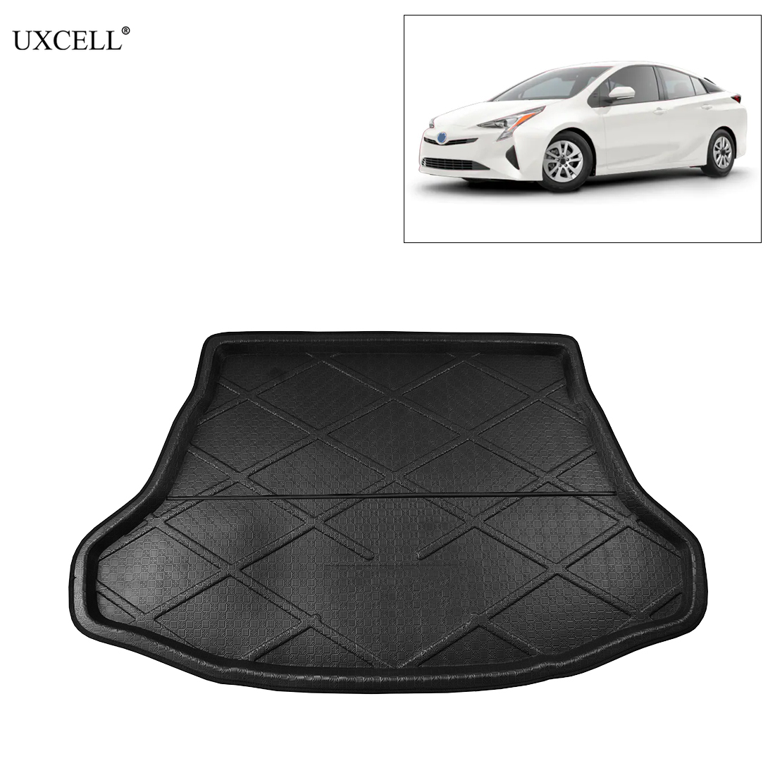 Uxcell Car Rear Trunk Floor Mat Cargo Boot Liner Carpet For Toyota Prius Hatchback 2016 2003-2010 For Camry Corolla 2012-2017