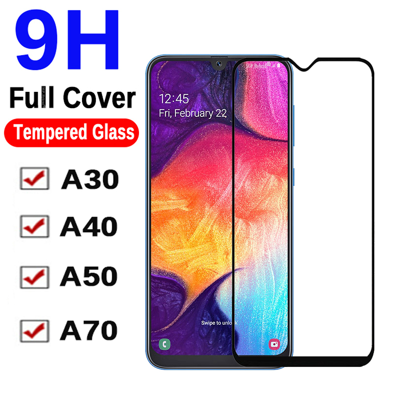 9H Glass On A50 For Samsung Galaxy SM A30 A40 A70 SamsungA A 50 40 30 70 A505 A505F SamsungA50 Protective Tempered Safety Glass