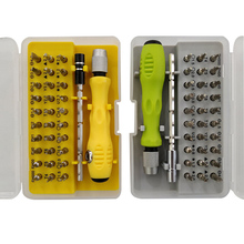 цена на 32 in 1 Multi-function Precision Screwdriver Set Mobile Phone Digital Camera Plug Razor Teardown Repair Tool Screwdriver Bit Set