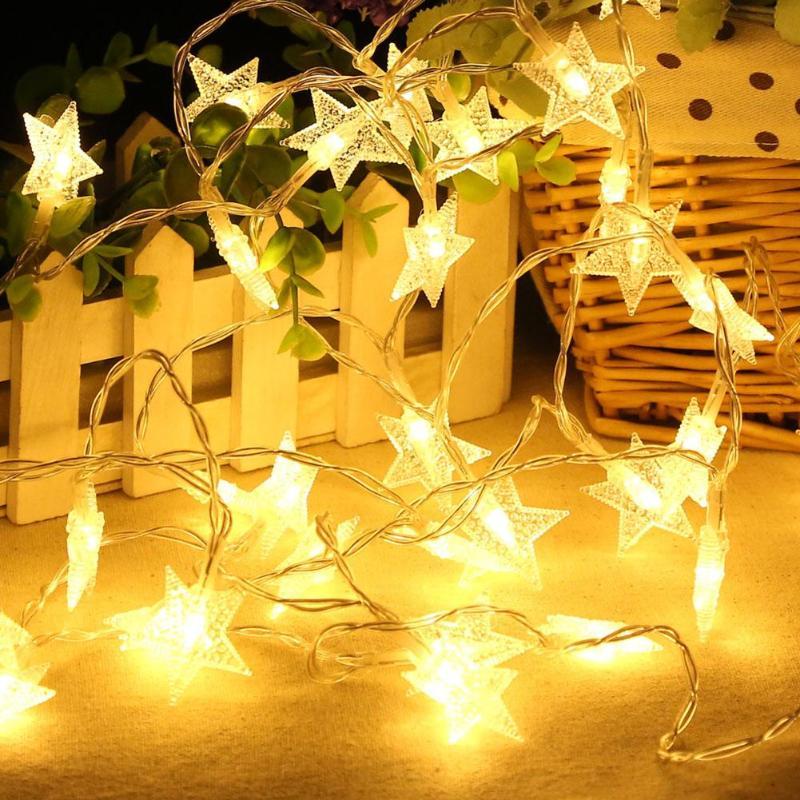 20LED Star Shape Lamp String Fairy Garland Christmas Valentine Wedding Party Decor