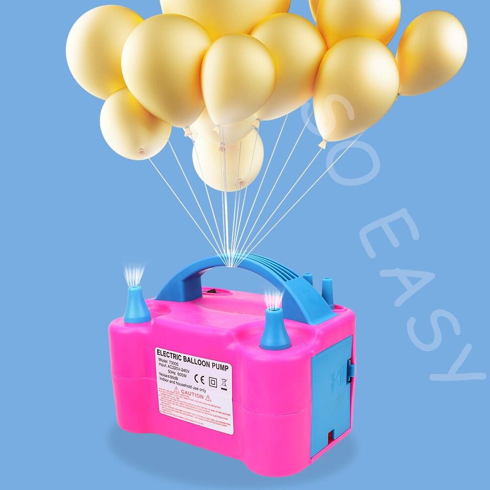 Электрический насос для накачивания воздушных шаров, Высоковольтный насос с двойным отверстием, воздушный компрессор с европейской вилкой