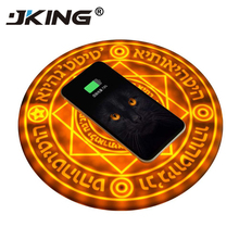 JKING Universal qi wireless charging Magic Circle Wireless Charger Fast Quick Charging pad For Samsung Xiaomi Redmi Huawei Honor