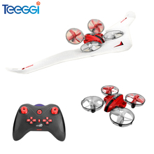 T11 3-in-1 Vehicle Detachable RC Drone EPP Flying Air Boat Glider Headless Mode