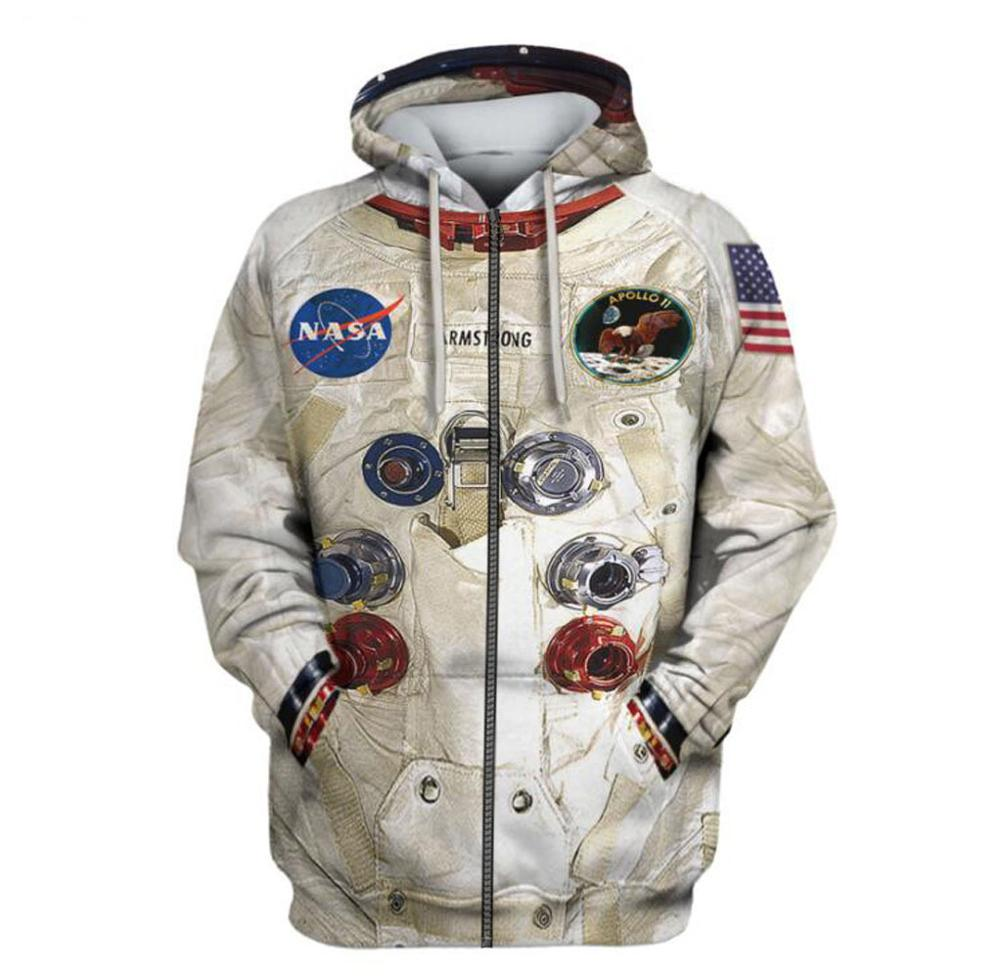 DIY New 3D Printed Space Suite Hoodies Sweatshirt Men Women Streetwear Casual Sweatshirt Cute Cosplay Astronaut Spacesuit Hooded