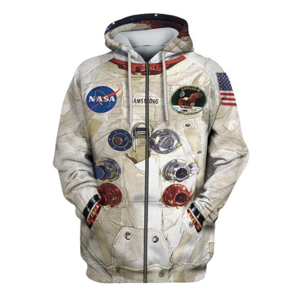 DIY New 3D Printed Space Suite Hoodies Sweatshirt Men Women Streetwear Casual Sweatshirt Cute Cosplay Astronaut Spacesuit Hooded