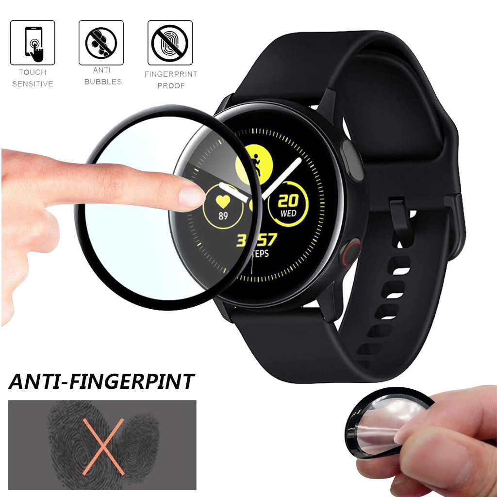 3D Curved Cover Screen Protector For Samsung Galaxy Watch Active 2 44mm Full Coverage Film Soft Glass Anti Scratch Bubble Free
