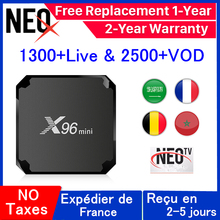 цена на X96 mini Android tv box France IP TV Set Top Box X96mini 1 Year neo tv pro IPTV Belgium French Arabic IPTV smart tv box pk qhdtv