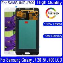 """5.5 """"עבור SAMSUNG Galaxy J7 2015 J700 LCD J700F J700M J700H תצוגת מגע מסך Digitizer עצרת החלפה"""