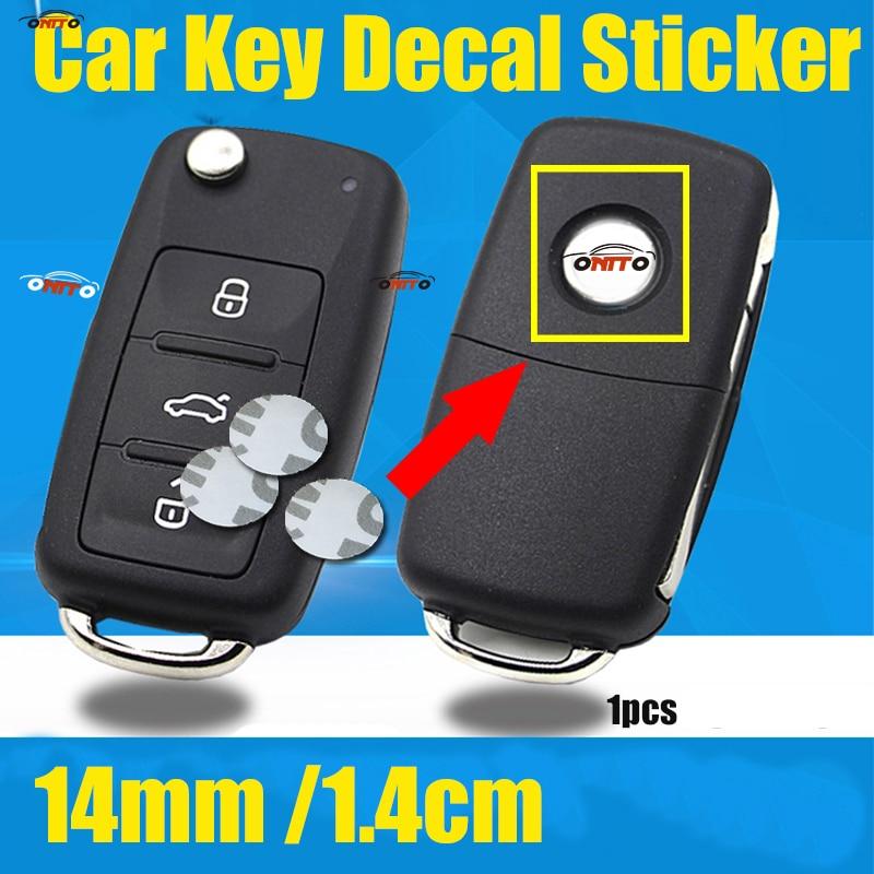 Hot 1.4CM 14MM 1pcs Car Key Sticker Covers For BMW Toyota Vw Honda Hyundai Jaguar Jeep Nissan Volvo Fiat Renault Rover Kia