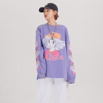 Extreme Lange Mouw Harajuku Kawaii Kleding Oversized Japanse Streetwear Cartoon T Shirt Vrouwen Leuke Kawaii Overhemd 2020 Kleding