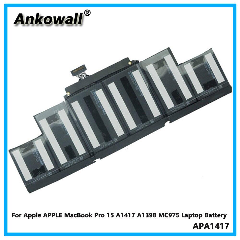 Pour Apple APPLE MacBook Pro 15 A1417 A1398 MC975 batterie d'ordinateur portable