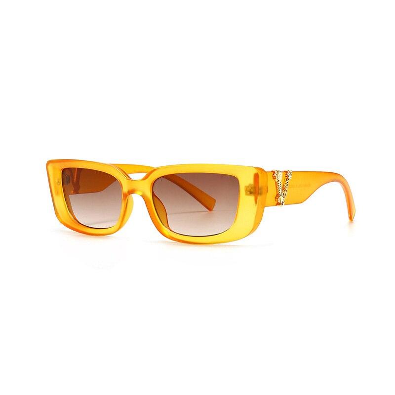 Retro Small Rectangle Sunglasses Candy Colors Gradient Sun Glasses Shades UV400 9