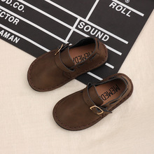 spring autumn new Parent-child natural leather shoes boys gi