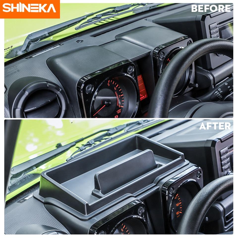 Center Console Dashboard Storage Box Tray Phone Support For Suzuki Jimny 2019+