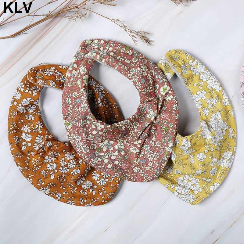 Newborn Baby Boys Girls Waterproof Cute Saliva Towel Kids Toddler Feeding Burp Triangle Cotton Bib Scarf