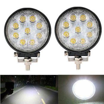 цена на 1Pc 27W Cree LED Work Light Spot Round Truck Lamp ATV Boat 4x4 Offroad SUV ATV Lamp For Jeep Toyota SUV 4WD Truck Work Light