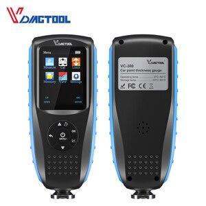 Image 3 - Vdiagtool VC200 Laagdiktemeter 0 1500 VC300 Backlight Auto Verf Laagdikte Tester Fe/Nfe Meten Auto paint Tool