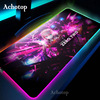 Anime Darling In The Franxx Sexy Girl Anime Mouse Pad Zero Two RGB Gaming Mouse Pad LED Color Light Lock Desktop Gaming Desk XXL