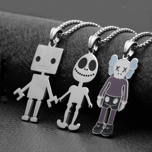 Fashion simple alien necklace hip hop wild street robot jewelry hot sale