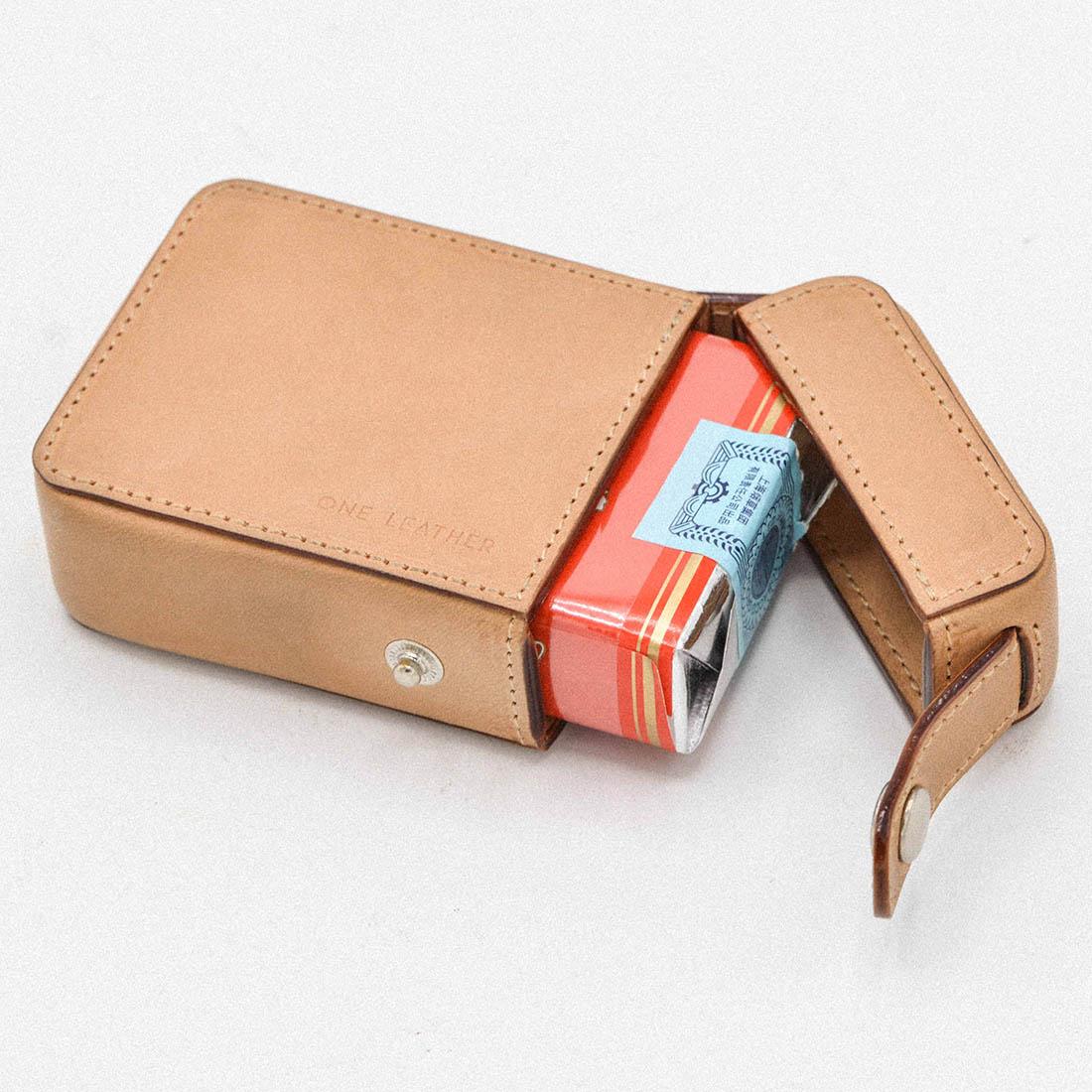 One Leather Cigarette Box Men Gift Cigarette Case Mens Gifts Cigarette Cover Smoke Tobacco Pouch Vegetable Tanned Leather|Cigarette Accessories| |  - title=