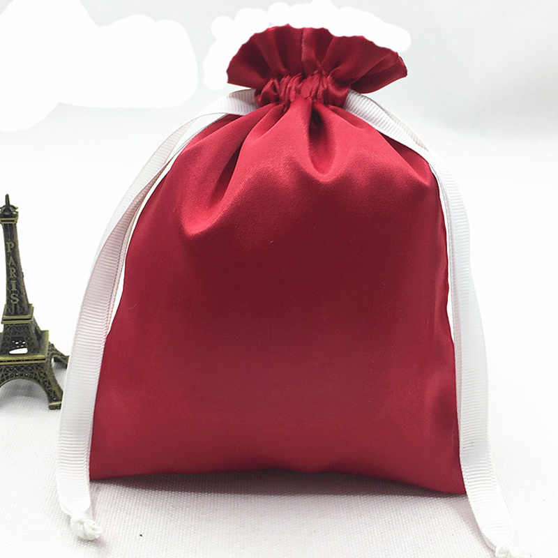 50pieces Satin Drawstring Bag For Jewelry / Makeup / Wedding / Party / Wig / Shoes / Shoe Bag Ribbon Shiny Satin Storage Bag