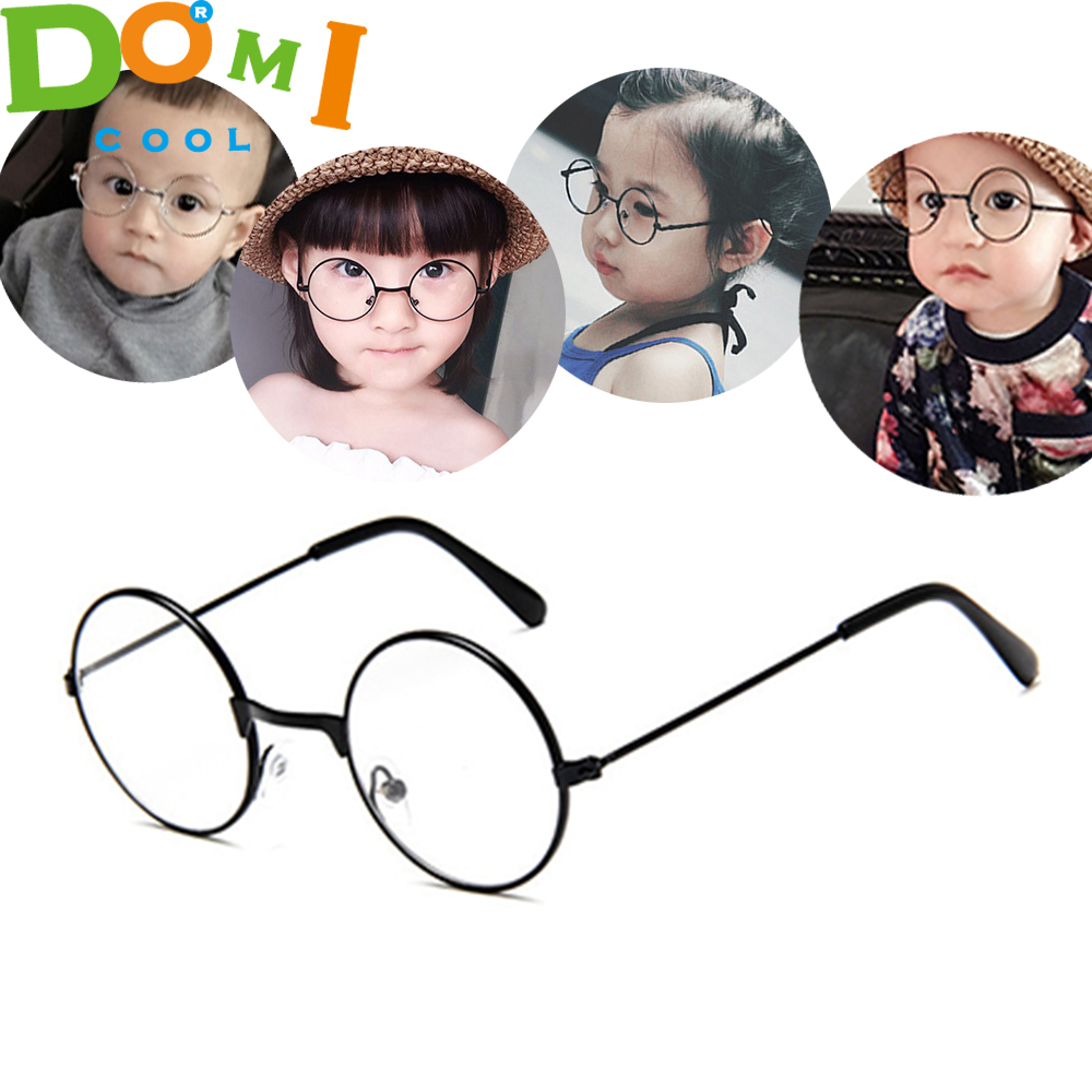 2020 Round Spectacles Glasses Frames Eyewear Kids With Clear Lens Myopia Optical Transparent Glasses For Children Boys Girls