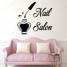 nail Salon wall sticker Manicure Women Girl Room Wall Art mural nail polish decor nail window decal JH163 the nail bar wall sticker nail polish wall decor nail salon wall decal manicure window removable decor jh152
