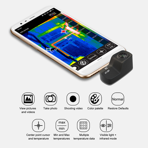 Image 4 - HT 201 Thermometer Multifunction Meter Handheld Detection Mobile Phone Infrared Black High Thermal Imager for Android