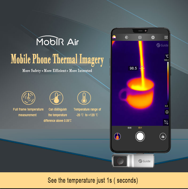 MobIR Air Thermal Imaging Camera for Smartphone Type-C OTG 6.0 Anti-peep Temperature Detection Thermal Imager Night Vision Cam