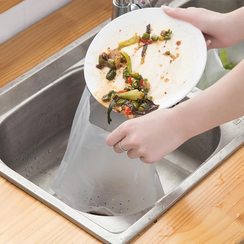 Kitchen Sink Self Standing Drain Bag Water Proof Bag Drainage Filter Leftover Food Residue Filtered Water Garbage Bag Trash Bags Aliexpress