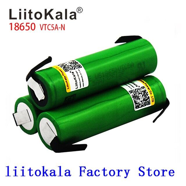 LiitoKala 18650 2600 MAh VTC5A N Ban Đầu 3.6V 18650 US18650 VTC5A 2600 MAh Cao Cấp Thoát Nước 40A Pin