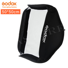 GODOX Softbox 50x50 ซม.สะท้อนแสง Diffuser สำหรับแฟลช SPEEDLITE Professional สตูดิโอถ่ายภาพแฟลช Fit Bowens Elinchrom