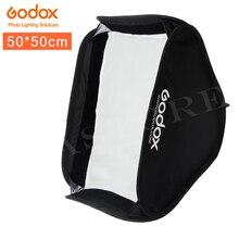 Godox ソフトボックス 50 × 50 センチメートルフラッシュディフューザーリフレクタースピードライトフラッシュライトプロフェッショナルフォトフラッシュフィット bowens elinchrom