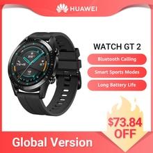 HUAWEI WATCH GT 2 versione globale Smart Watch lunga durata della batteria 14 giorni GT2 quadrante chiamata ossigeno nel sangue 46mm GT2 Smartwatch impermeabile