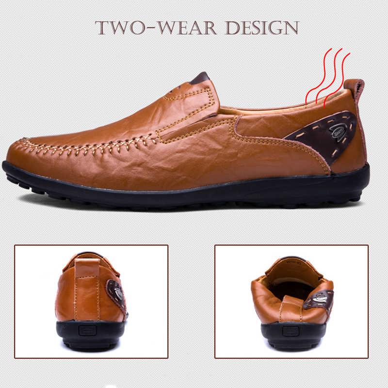 Fhlyiy 38-47 รองเท้าผู้ชายรองเท้าสบายๆรองเท้าหนัง SLIP-ON Loafer ผู้ชายสีดำรองเท้าบุรุษ luxury Designer Loafers