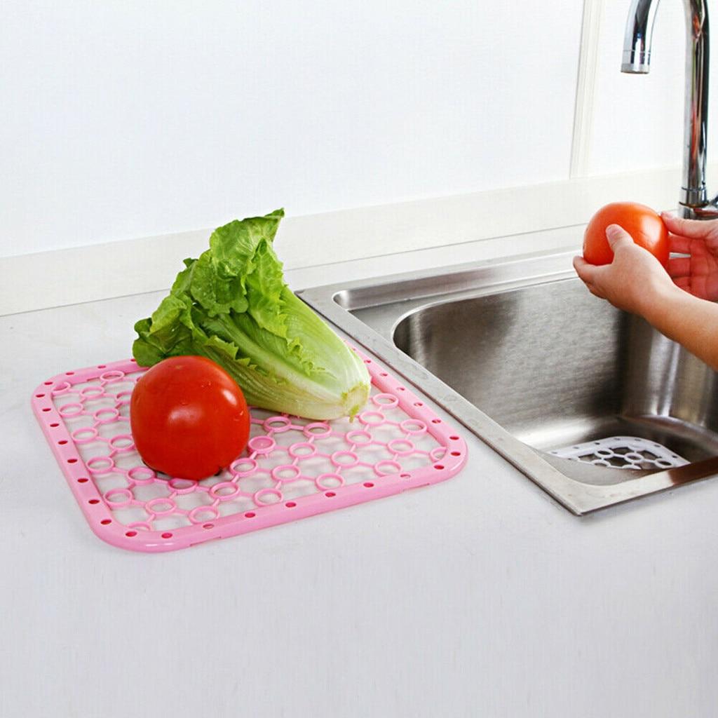 Plastic Sink Mat Pad Mesh Sink Strainer Sink Protector For Kitchen Bathroom Accessories Kitchen Accessories