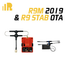 FrSky R9 STAB OTA 900MHz 16CH Long Range Receiver & R9M 2019 Module System with mounted Super 8 and T antenna