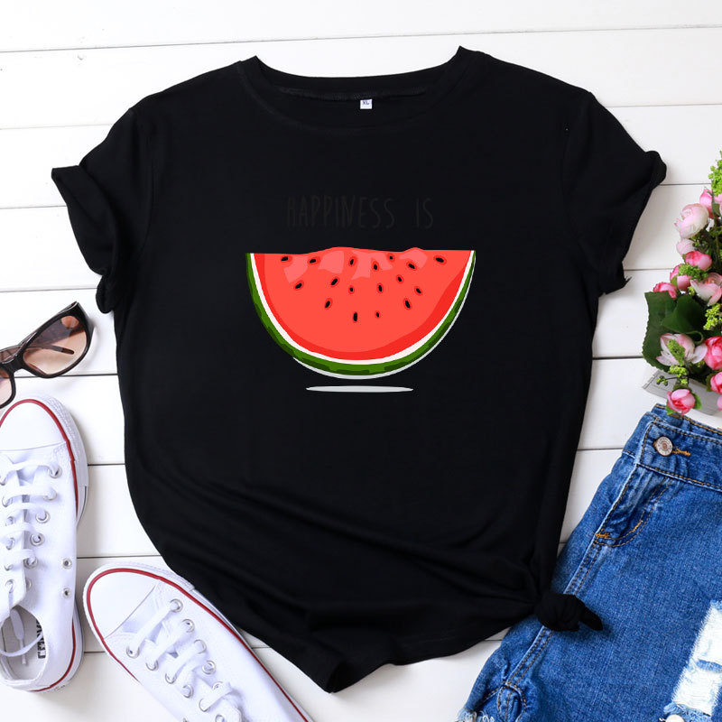 Cotton Bloom Flower Feather Women T -shirt 2020 Summer Short Sleeve Round Neck Harajuku Printing Tee Casual Fashion Female