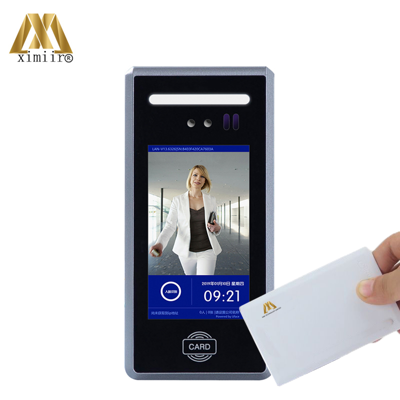 Dynamic Face Access Control With 13.56MHz MF IC Card Free Software New Arrival Facial Recognition Time Attendance System MD18
