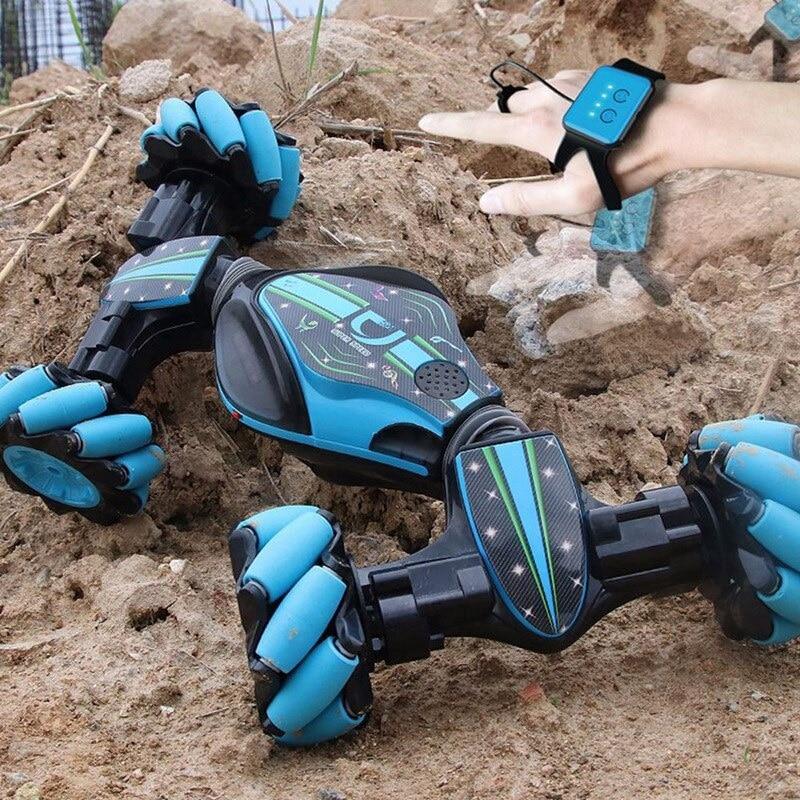 Weihnachten Stunt RC Auto Gesture Sensing Verdrehen Fahrzeug Drift Auto Fahren Spielzeug Geschenke SNO88 - 5
