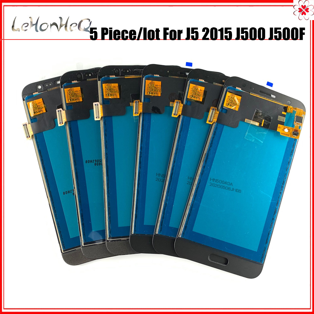 5 piece/lot <font><b>J500</b></font> LCD For <font><b>Samsung</b></font> <font><b>J5</b></font> <font><b>2015</b></font> <font><b>J500</b></font> J500F J500G LCD Display Touch screen Digitizer Assembly image