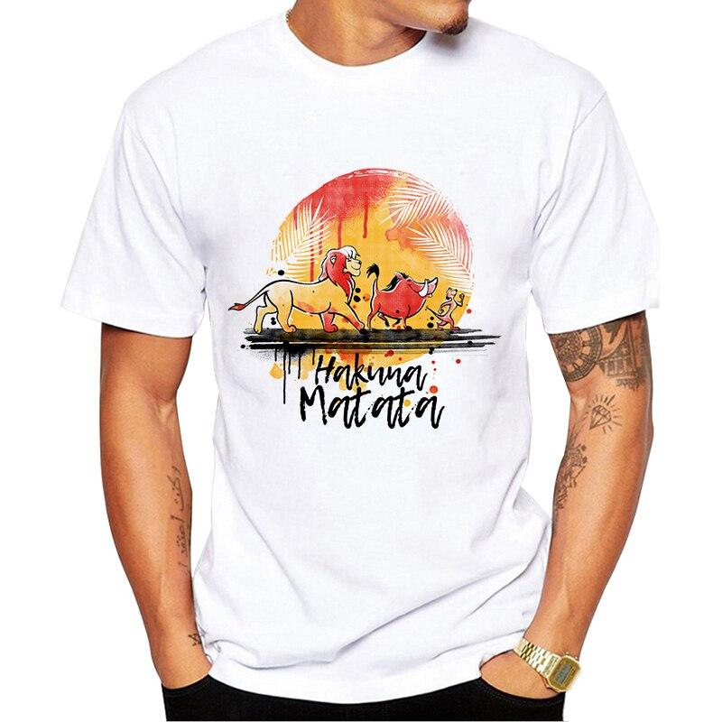 Hakuna Matata Men's Harajuku Ulzzang Lion King T-shirt Summer T-shirt Fashion Shirt T-shirt Men's Clothing