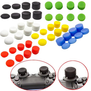 8pcs Soft Silicone Thumb Grip Stick Cap Cover For Sony Play Station 4 Pro PS4 PS 5 Accessory Heightened Anti-Slip Case