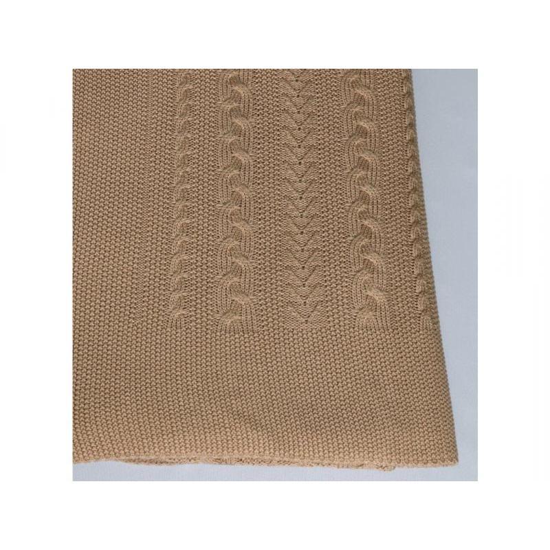 Plaid knitted Braid (camel)