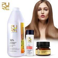 Czysta keratyna do profesjonalnego prostowania włosów 12% odświeżająca z długich włosów trwała naprawa włosów maska do uszkodzenia zabieg keratynowy