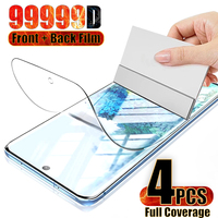 4 Pack Galaxy S20 Plus Screen Protector Tpu Voor Samsung S7 Rand S8 9 10 S21 Fe Note 20 Ultra 5G Hydrogel Front Back Film Sheild