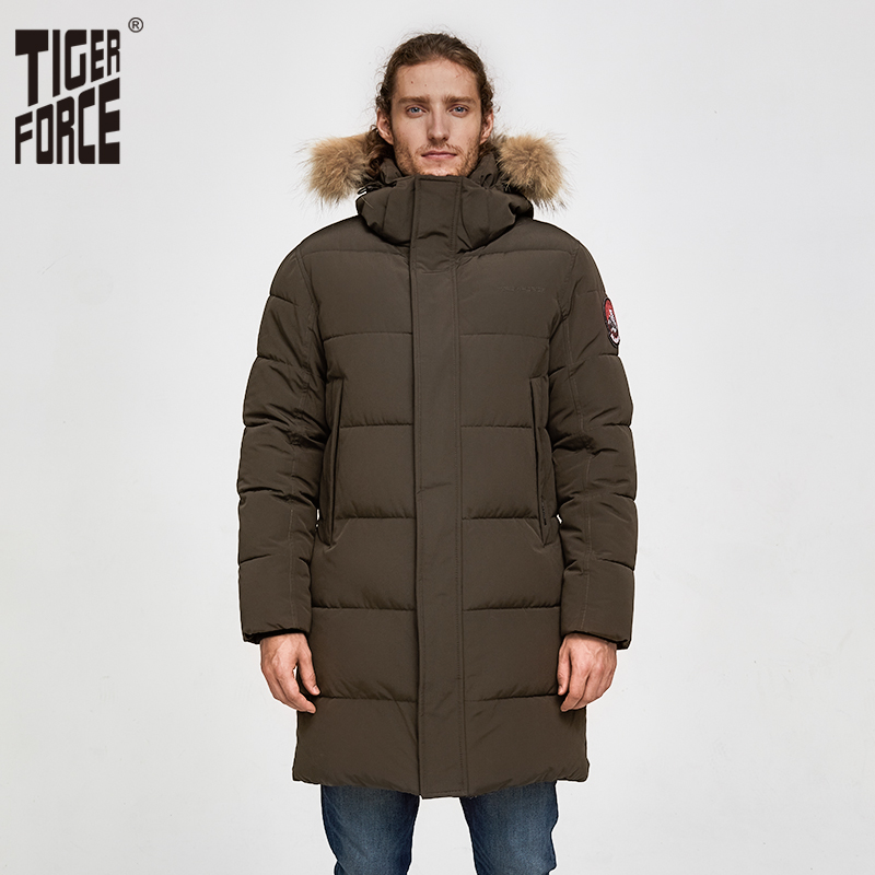 TIGER FORCE Alaska Jacket Men Winter Jacket Parka Men Alaska Coat Detachable Hooded Men'S Winter Coat Artificial Fur Thicken-in Parkas from Men's Clothing